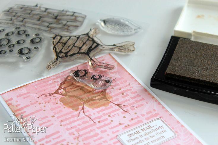 Snail Mail Cards ⋆ Lady Pattern Paper