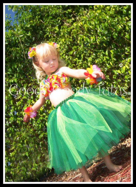 ISLAND GIRL Hawaiian Hula Girl Inspired Tutu by goodygoodytutus, $65.00