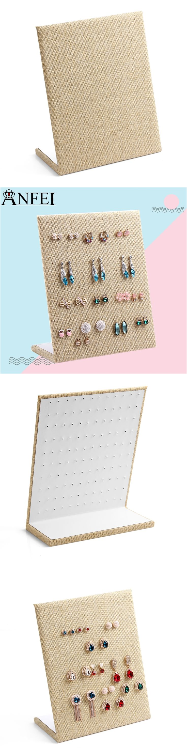 Free shipping Linen Material  display shelf board pin earrings  jewelry display stand earring holder jewelry box store shelf