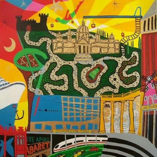 Detail Barcelona District Sants-Montjuïc,  Art: Karlijn Surminski