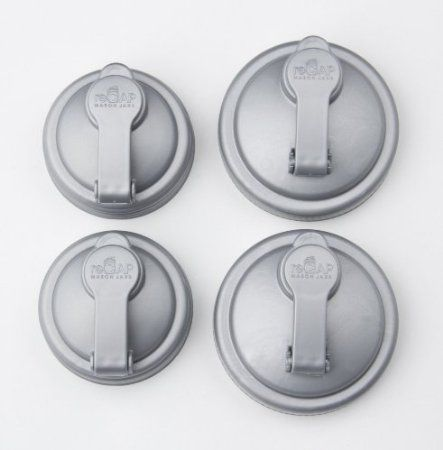 Amazon.com: reCAP Regular & WIDE-MOUTH Mason Jar Pour Caps Set of 4 - Turn your canning jars into pourable dispensers. Great for homemade salad dressing, etc.