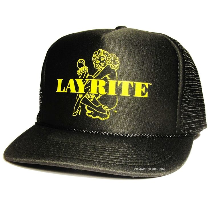 Layrite Barbergirl Trucker Hat Black Yellow