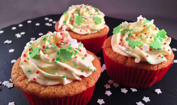 Kersen cupcakes voor de kerst | Wessalicious
