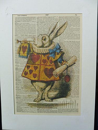 Alice in Wonderland Wall Art Print No.338 alice by DecorisDesigns