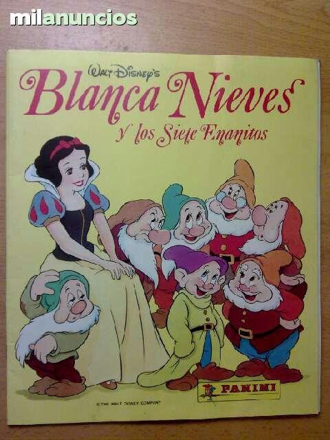 Álbum panini de Blancanieves y los siete enanitos