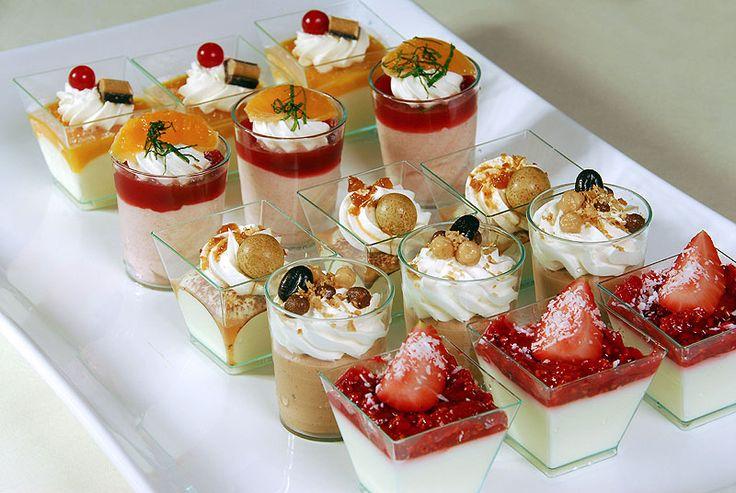 kleine glaasjes decoreren | Een Exotisch monchou dessert. Omdat ik echt een toetjes liefhebber ben ...
