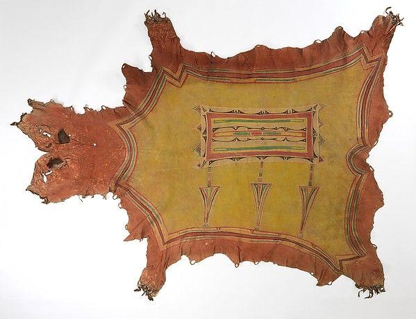 """Шкура, Арапахо.""""Box-and-Border Design."""" 19 век"""