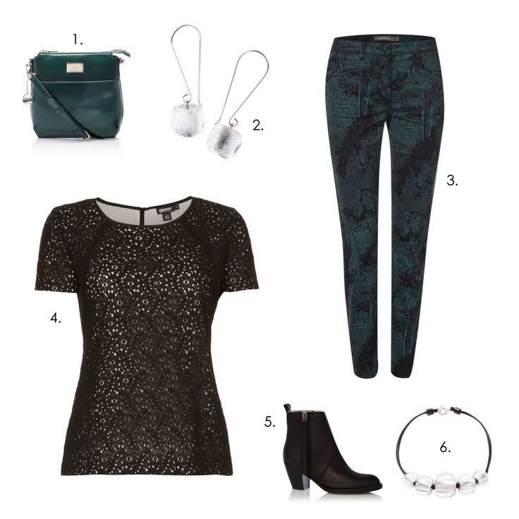 Lovely Office outfit! 1.Bag: DKNY 2.Earrings:  Zsiska Precious 3.Trousers: Sandwich 4.Tshirt: DKNY 5.Shoes: Acne 6.Necklace: Zsiska Precious