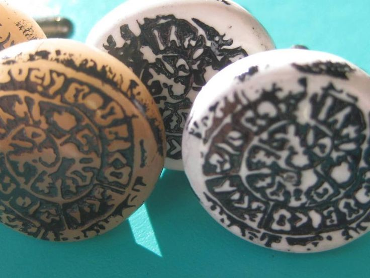Handmade polymer Clay ancient inspired DISC OF PHAISTOS CUFF LINKS choose colour