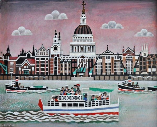 St Paul's from Bankside by Alfred Daniels