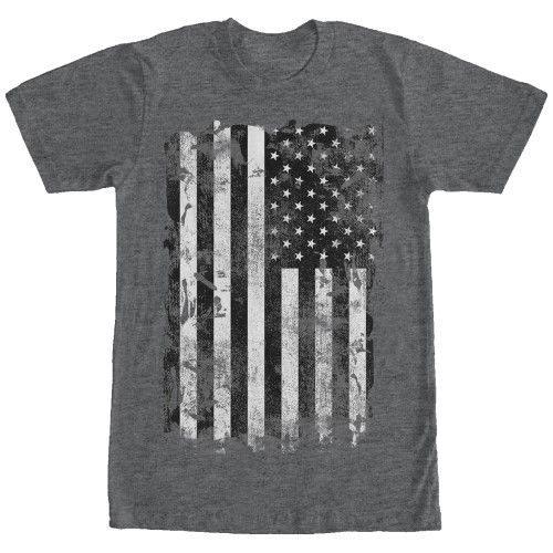 Lost Gods Distressed American Flag Mens Graphic T Shirt, Men's, Size: XXL, Black