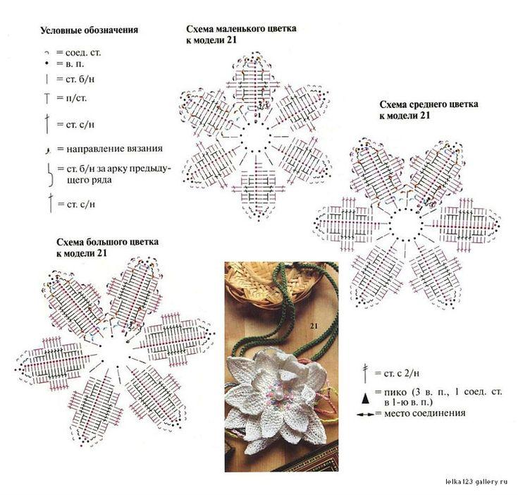 было связано цветы вязанные крючком со схемами фото имеем массу