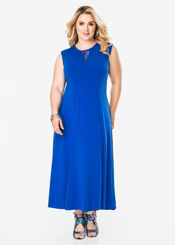Lace Inset Maxi Dress Lace Inset Maxi Dress