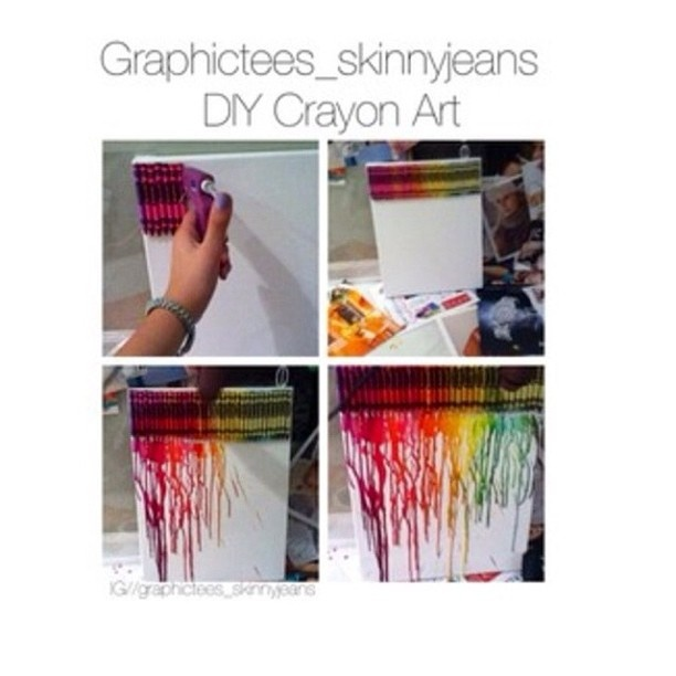 mealted crayon