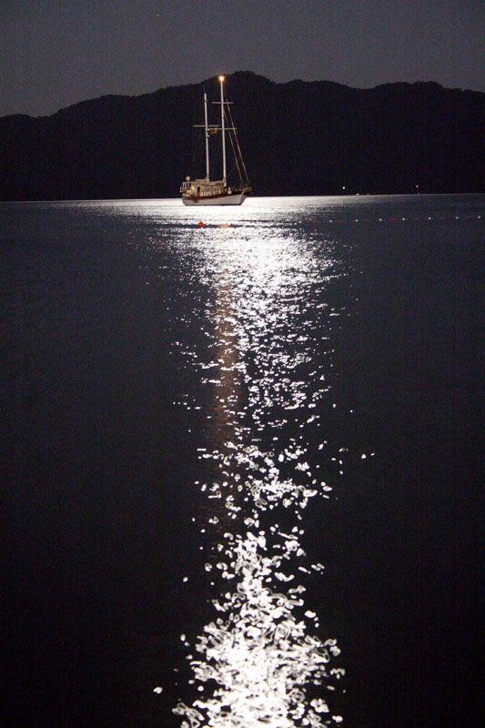 Moonlight - Moonlight reflection on the sea from Marmaris,Turkey