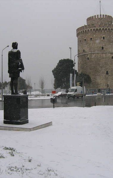 Winter in Thessaloniki, Greece