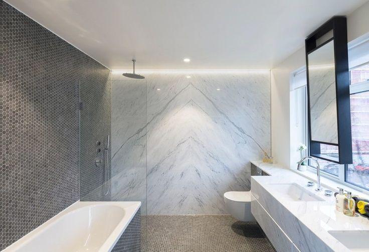 daino reale marble slab bathroom contemporary with tiled bathroom modern showerheads and body sprays