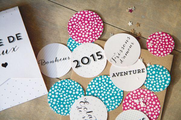 Une carte de voeux originale pour le Nouvel An. DIY
