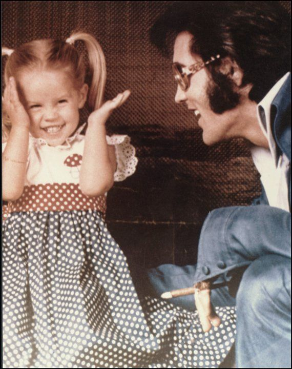 One of my favorite pics of Elvis and Lisa Marie