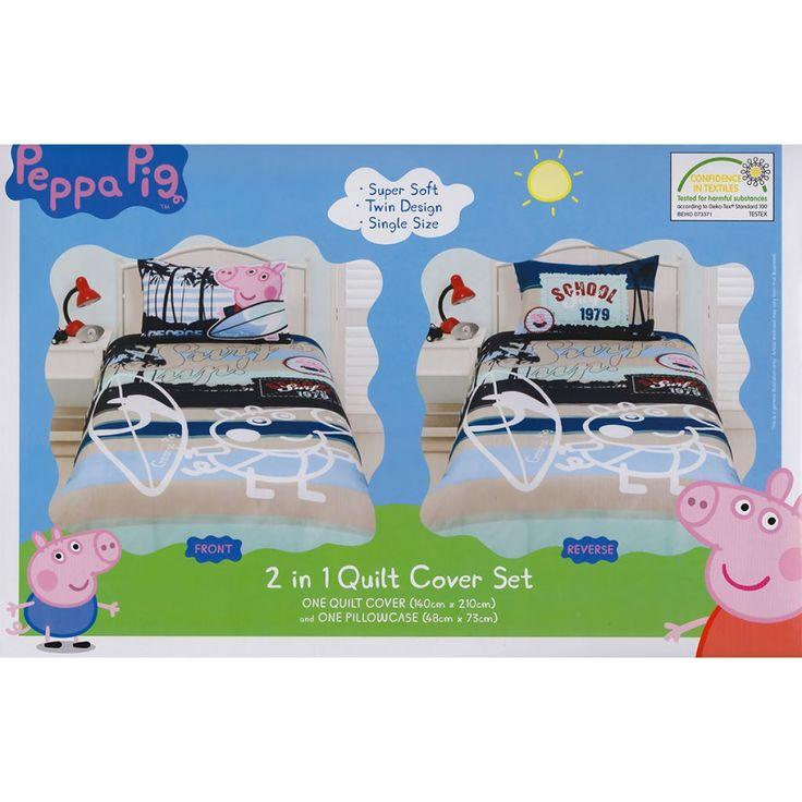 10 best Peppa Pig Bedding images on Pinterest | Piglets, Kidsroom ... : peppa pig quilt cover set - Adamdwight.com