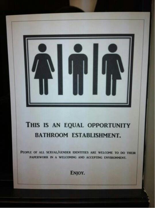 13 Best Gender Neutral Bathroom Signs Images On Pinterest