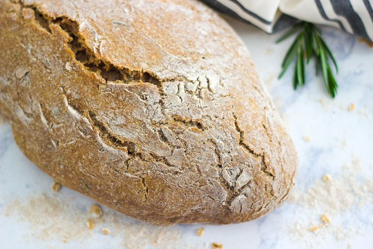This No-Knead Whole Wheat Rosemary Bread is the perfect recipe for beginners. Enjoy a hearty and healthy loaf of bread with just a few steps and a simple list of ingredients.