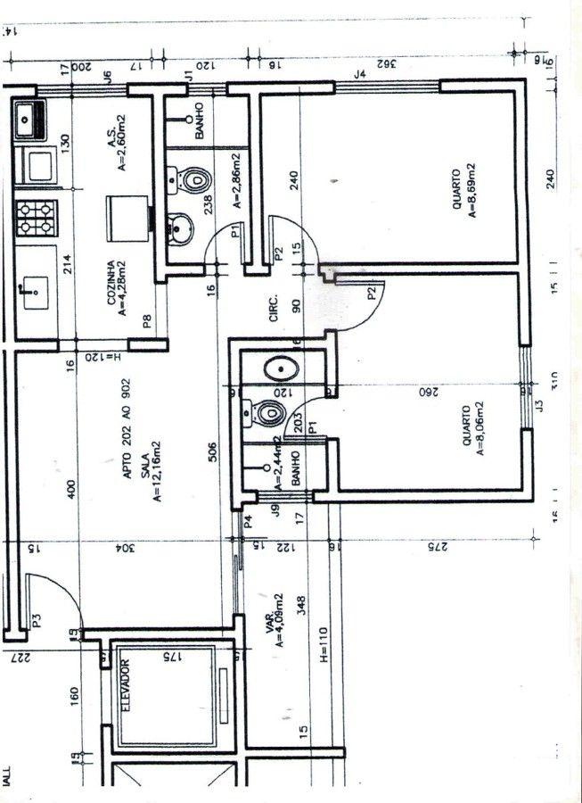 Projeto apartamento 50m2 pesquisa google project for Distribucion apartamento 50 m2