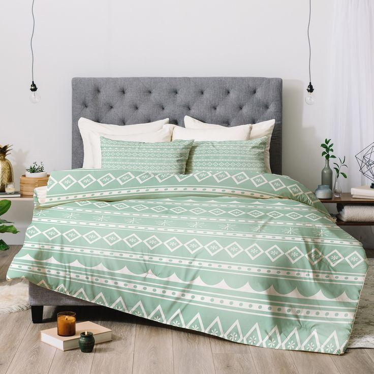 Deny Designs Craftbelly Retro Mint Comforter Set