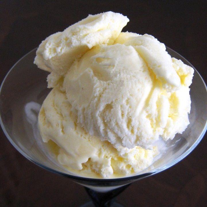 Gelato allo yogurt bianco