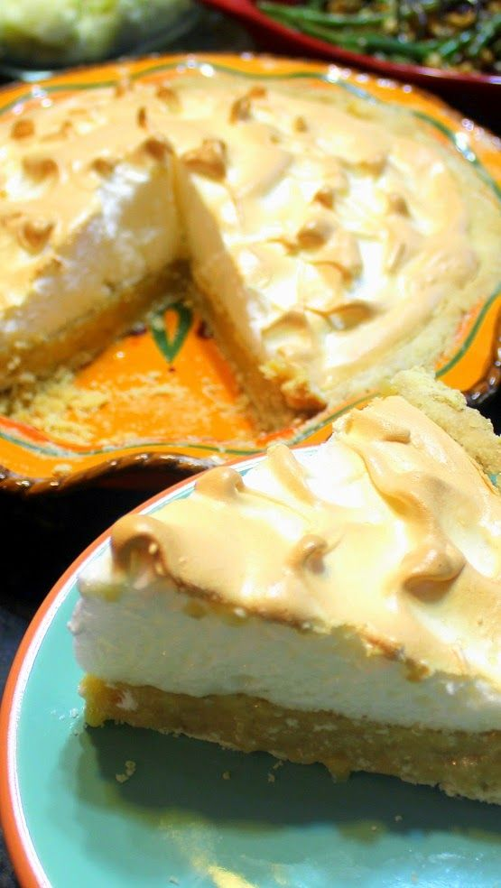 "Butterscotch Pie ""Old School"" Style - 52 Cakes and Pies at Home... It's a NEW Favorite family recipe that left everyone wishing I made a second pie.  ""Old School"" Scratch recipe that is dramatic (High Top Domed Meringue) but is actually easy to do.  Make ahead dessert that has GREAT taste and lots to brag about!"