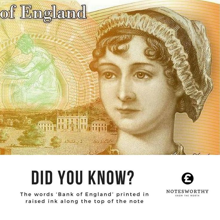 Did you know? The words Bank of England printed in raised ink along the top of the note. Check out notesworthy.co.uk #linkinbio Use are #banknote value checker to find out the value of your #banknotes. We focusing on #english #polymer #papermoney. Like the #newfivepoundnote and the #newtenpoundnote. Visit our site now #collectors #hobby #collect #pounds #gbp #Churchill #janeausten #bankofengland #friday #instagood #pictureoftheday