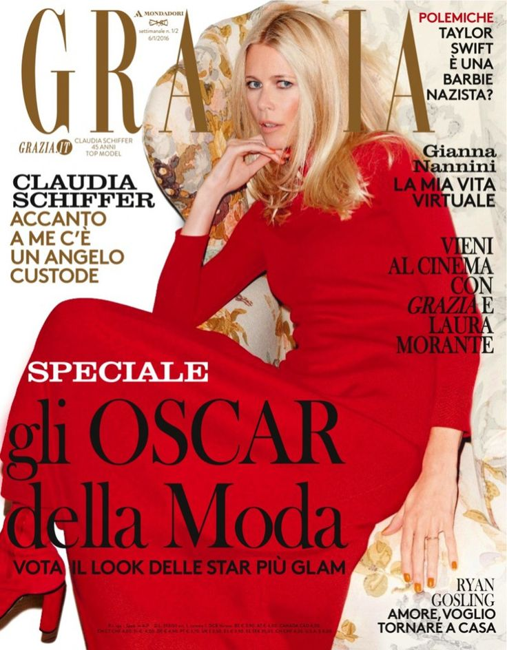 Клаудиа Шиффер (Claudia Schiffer) для Grazia Italy