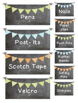 CHALKBOARD TEACHER TOOLBOX LABELS - TeachersPayTeachers.com