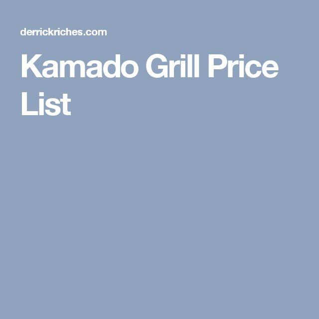 Kamado Grill Price List
