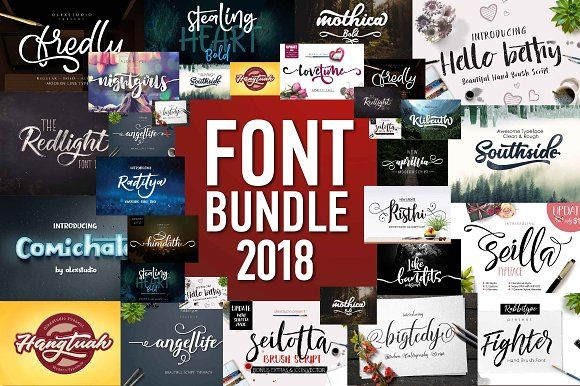 FONT BUNDLE 2018 by Olexstudio on @creativemarket