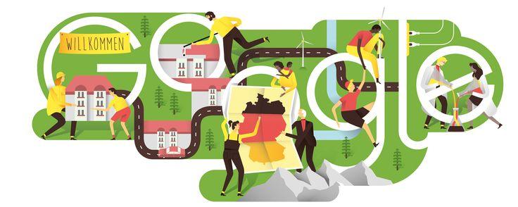 Google Doodle German Unity Day