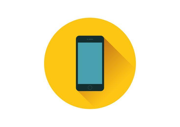 Smartphone Flat Vector Icon