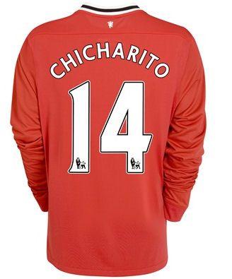 2011-12 Man Utd Nike Long Sleeve Home Shirt (Chicharito 14) - Ki #Sport #Football #Rugby #IceHockey
