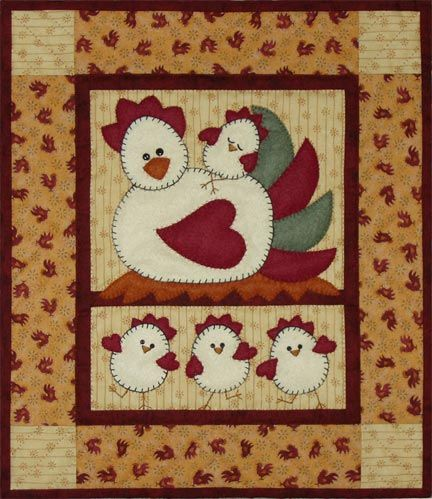 Free Country Applique Patterns Chicken Applique Template