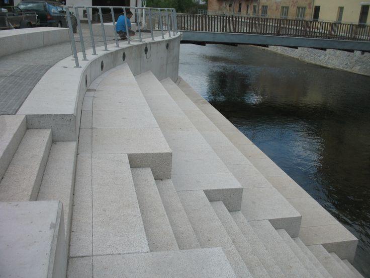 Riverbank on Masaryk Square in Letovice town, Czech republic, autor Jana Kastankova, 2011