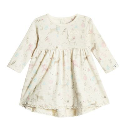 Mantaray Baby girls' cream woodland themed print dress | Debenhams