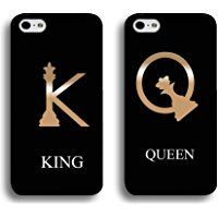Best Friends Boyfriend Girlfriend Lovers Case,Luxury Premium King And Queen Crown Couple Matching Phone Cases Cover Tough Back Protection Shell Iphone 6 Plus/6s Plus 5.5 Inch