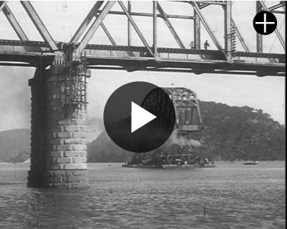 Watch this wonderful Pathe newsreel of 1945 showing the first span of the new Hawkesbury River bridge being manoeuvred into place http://www.britishpathe.com/video/first-span-of-new-hawkesbury-bridge