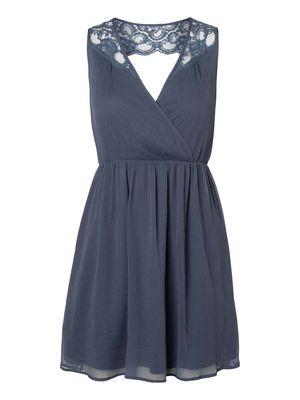 Laced Mini dress, Ombre Blue, main