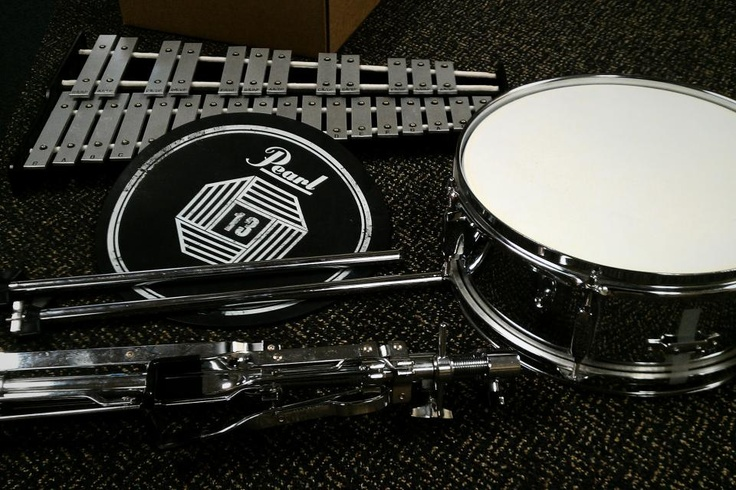 $75 - Pearl Snare Drum and Xylophone