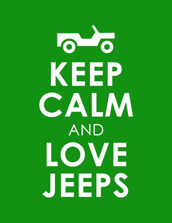 Keep Calm and Love Jeeps Wall Poster Print di WallArtCollection