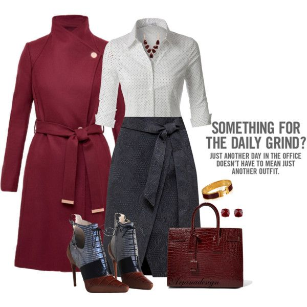 THE 4-DAY WORK WEEK - DAY 2 by arjanadesign on Polyvore featuring LE3NO, Ted Baker, Christian Dior, Yves Saint Laurent, Hermès, Les Néréides, Kenneth Cole, WorkWear, saintlaurent and tedbaker