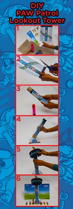 Turn a paper towel roll into a PAW Patrol Lookout Tower!  11/06/2016
