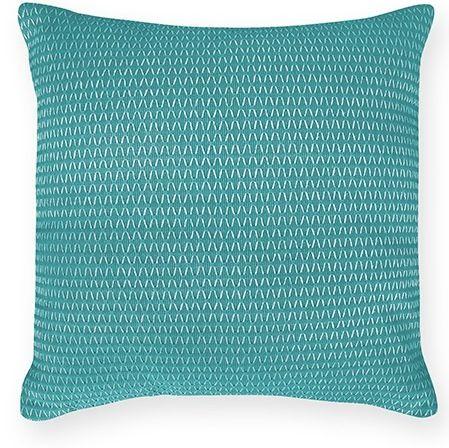 Nelson teal cushion