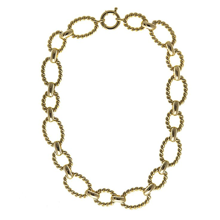 Italian Rope Gold Chain Necklace
